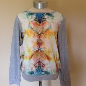Forever 21 kaleidoscope baseball tee shirt top